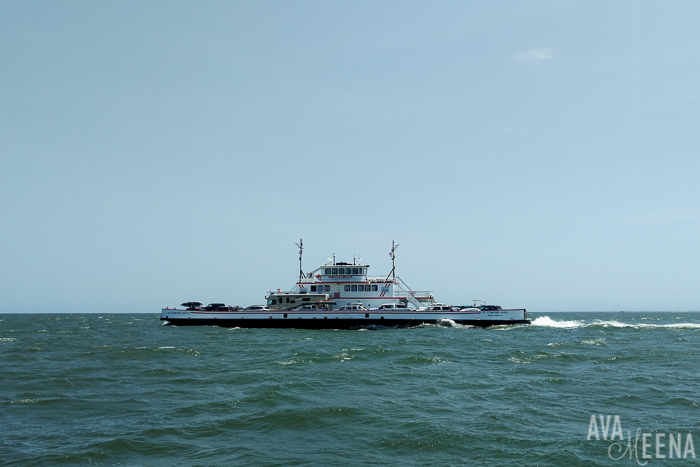 Taking the ferry from Cape Hatteras to Ocracoke Island. | The Hatteras / Ocracoke ferry | Outer Banks Lighthouses | A Guide to the Lighthouses of the OBX, North Carolina.