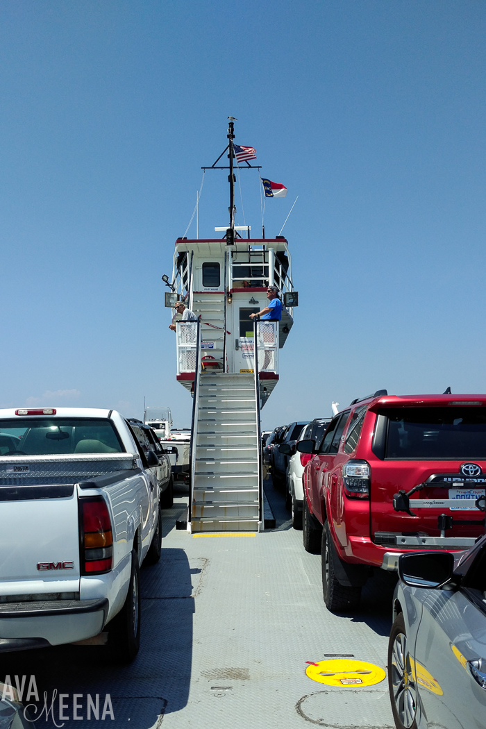 Taking the ferry from Cape Hatteras to Ocracoke Island. | The Hatteras / Ocracoke ferry | Outer Banks Lighthouses | A Guide to the Lighthouses of the OBX, North Carolina | Lighthouses in the Outer Banks | Lighthouses in North Carolina | North Carolina Lighthouses