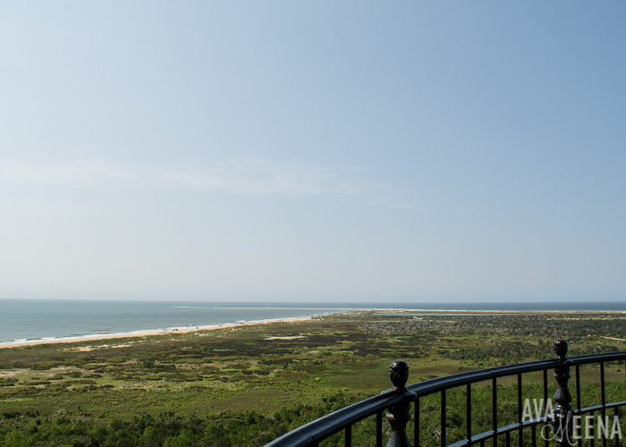Cape Hatteras Lighthouse – view from the top | Outer Banks Lighthouses | A Guide to the Lighthouses of the OBX, North Carolina.