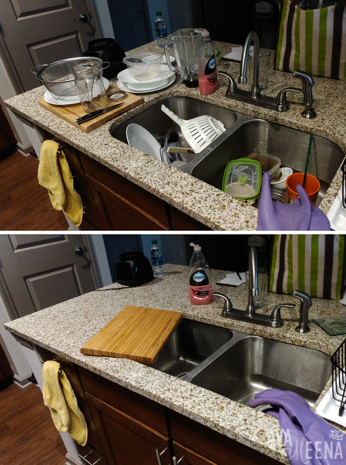 Cleaning the kitchen – a big accomplishment. | A Day in the Life with Lupus.