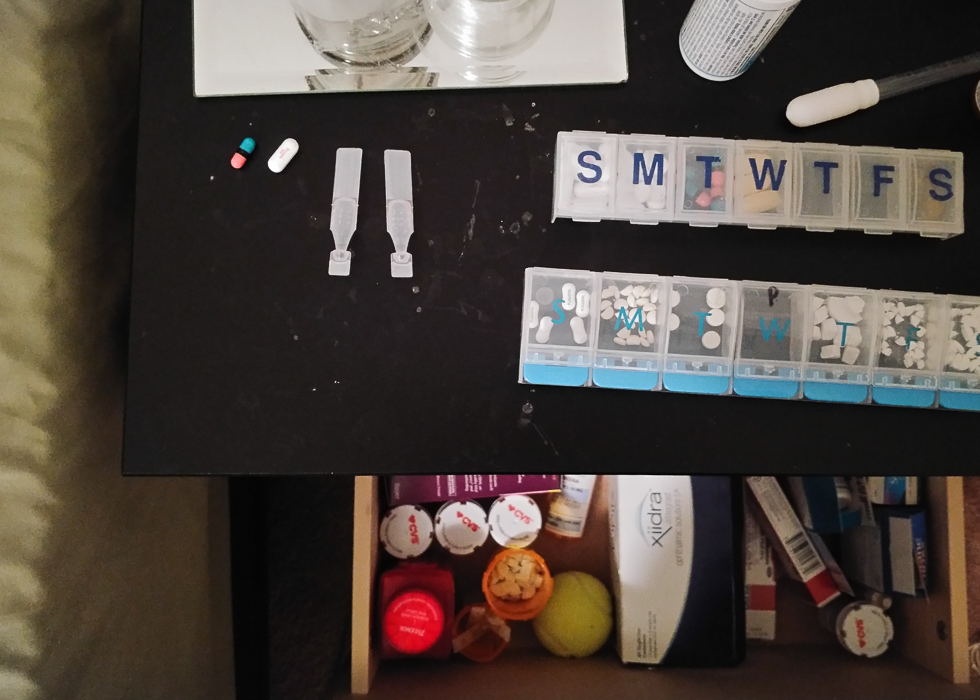 More nighttime medications. | A Day in the Life with Lupus.