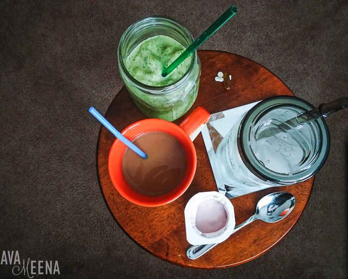 My breakfast. | A Day in the Life with Lupus.