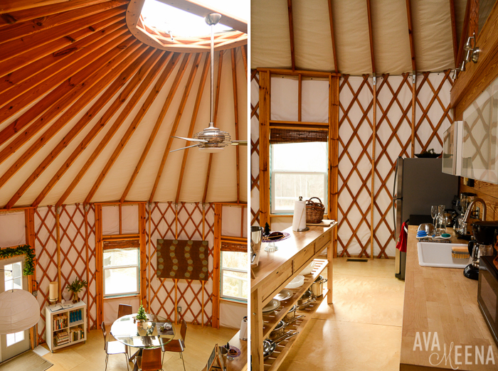 Interior of the yurt. | Our Anniyurtsary – Staying at a Luxury Yurt in Afton, Virginia.