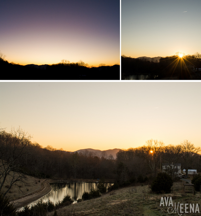 The sunrise. | Our Anniyurtsary – Staying at a Luxury Yurt in Afton, Virginia.